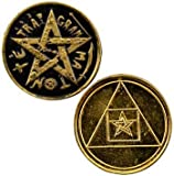 Tetragrammaton Hebrew Name of God Pocket Coin of Strength and Courage