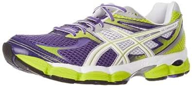 ASICS Women's GEL-Cumulus 14 Running Shoe,Purple/White/Lime,10.5 M US
