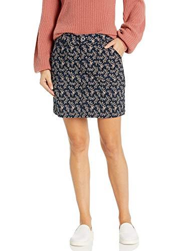 LEE Women's Regular Fit Skort, Navy Ditsy Floral, 6