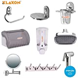 Klaxon Noteworthy Bathroom Accessories Set - 9Pcs