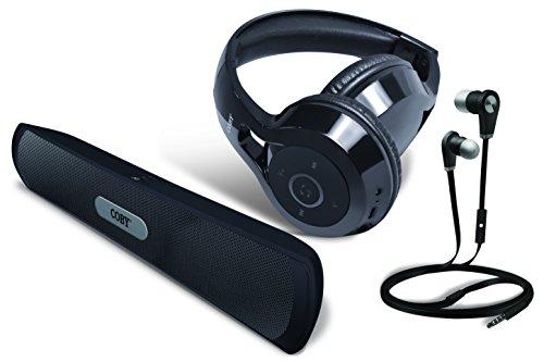 Coby 3-IN-1 Bluetooth Headphones/Speaker Combo Pack (black)