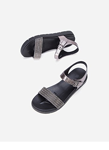 de Verano de de Sandalias Color Sandalias Zapatillas Dulces Moda Planas Ocasionales S DHG Sandalias de de Punta Mujer qxgZtAHwR