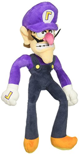 "Little Buddy Super Mario All Star Collection 1422 Waluigi Stuffed Plush, 12.5"" from Little Buddy"