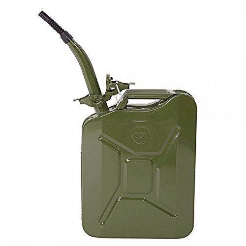 Lovinland 20L Gas Oil Can Portable Metal Jerry Can Emergency Fuel Petrol Diesel Storage Can Tanks US Style (1, Army Green)