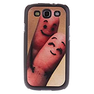hello Finger Couple Pattern Hard Case for Samsung Galaxy S3 I9300