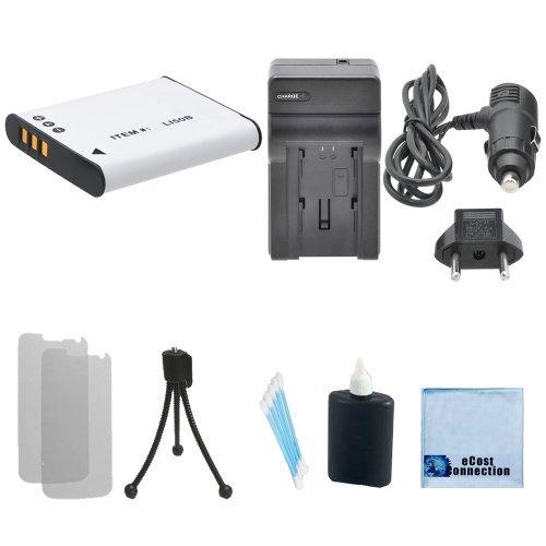LI-50B High-Capacity Battery + Car/Home Charger For Olympus Stylus 1030-SW, Tough-6000, Tough-6020, Tough-8000, Tough-8010, SZ-10, Z-11, SZ-12, SZ-14 & More.. Camera + Complete Starter ()