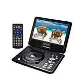 """GJY 9.5"""" Portable DVD Players with 270° Swivel Screen Built-in Rechargeable BatterySD Card/USB/Game/MP3/MP4/MP5 with Remote Control, Direct Play in Formats MP4/AVI/RMVB/MP3/JPEG (Black)"""