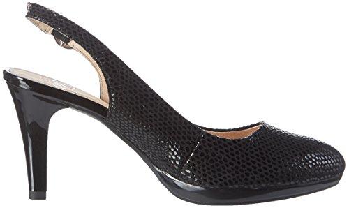 Caprice Women's 29607 Wedge Heels Sandals Black (Black Reptile) vfuItmGMmZ