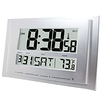 Atomic Digital Reloj de pared radio, control empresa 1076: Amazon.es: Amazon.es