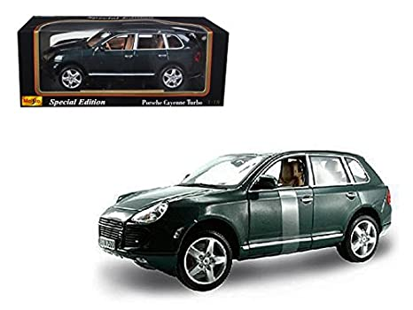 Maisto 31634 Porsche Cayenne Turbo Green 1/18 Diecast Model Car