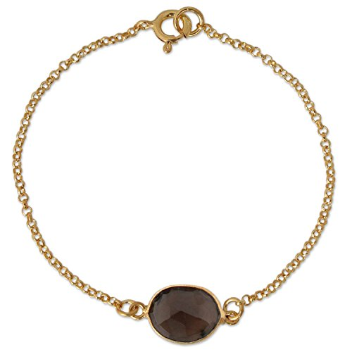 Smoky Quartz Yellow Bracelet - 7