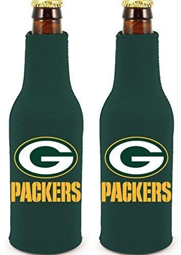 NFL Football 2014 Team Color Logo Bottle Suit Holder Cooler 2-Pack (Green Bay Packers)]()