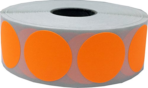 Color Coding Labels Fluorescent Orange Round Circle Dots For Organizing Inventory 1 Inch 500 Total Adhesive Stickers