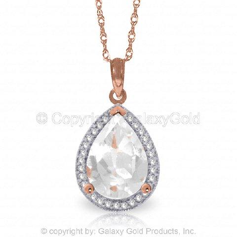 Pear Rose Gold Necklace (14K 14