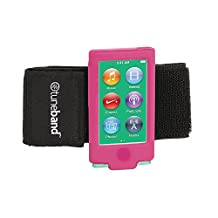TuneBand for iPod nano 7th Generation / 8th Generation (Model A1446, 16 GB), Premium Sports Armband with Two Straps and Two Screen Protectors, PINK