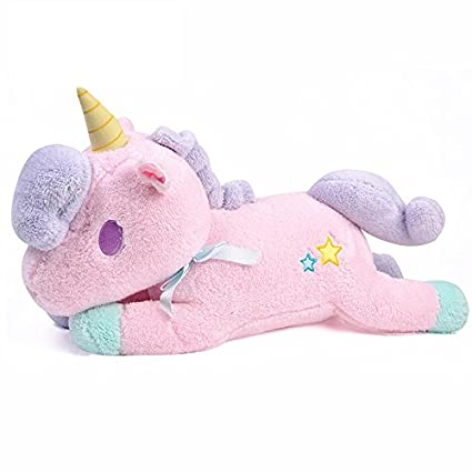 Funif Cute Unicorn Throw Pillow for Home Sofa Decoration Stuffed Plush Toys Back Cushion Creative Doll