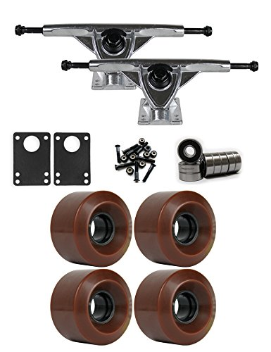 TGM Skateboards RKP Raw Longboard Trucks Wheels Package 60mm x 41mm 83A 1545C Brown