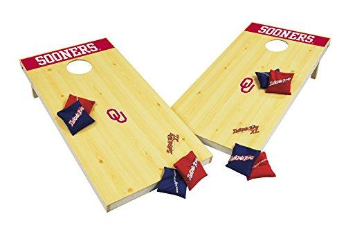 Wild Sports NCAA College Oklahoma Sooners 2' x 4' Authentic Cornhole Game Set
