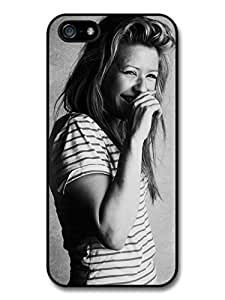 AMAF ? Accessories Ellie Goulding Singer Laughing Black & White case for iPhone 5 5S