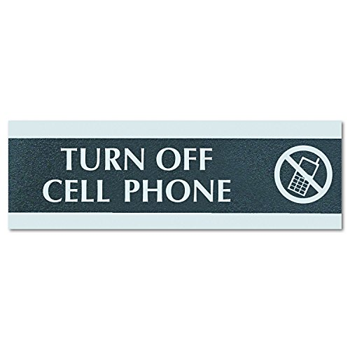 (Headline Sign 4759 Century Series Office Sign,TURN OFF CELL PHONE, 9 x 3)
