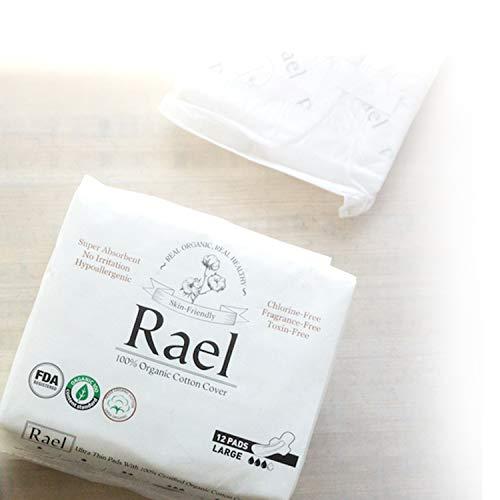 Rael 100 Organic Cotton Menstrual Overnight Pads Thin