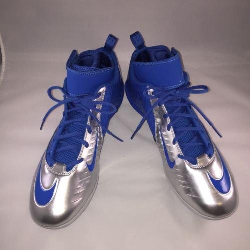 Nike Mens Lunar Superbad Pro NFL Detroit Lions Football Cleats, Blue/Silver, Size 13 (US)