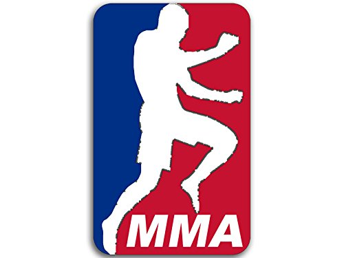 American Vinyl Red White Blue MMA Sticker (Fight Martial Arts Fighter UFC)
