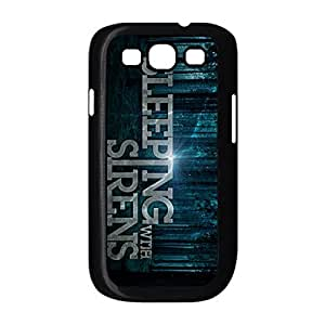 Thin Solid Plastic Back Case Cover with Sleeping With Sirens for Samsung Galaxy S3 I9300 -Black052808 by supermalls