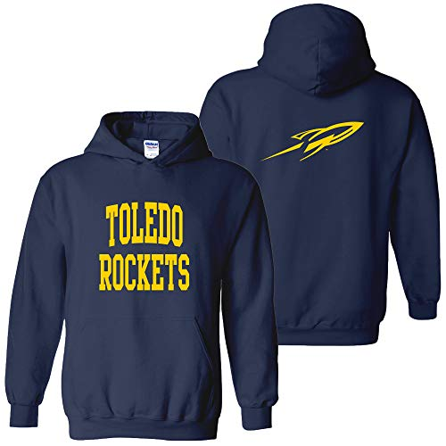 UGP Campus Apparel AH46 - Toledo Rockets Front and Back Print Hoodie - 2X-Large - Navy