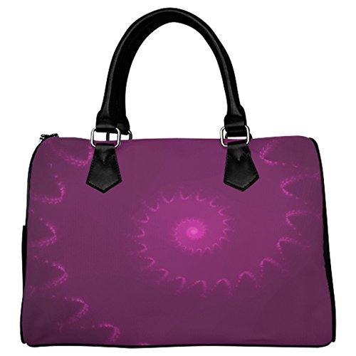 Jasonea Women Boston Handbag Top Handle Handbag Satchel Amazing Fractal Basad193451