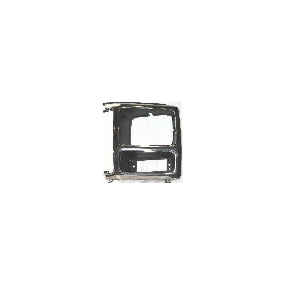 80 86 FORD BRONCO HEADLIGHT DOOR LH (DRIVER SIDE) SUV, Chrome & Black (1980 80 1981 81 1982 82 1983 83 1984 84 1985 85 1986 86) 7740 EOTZ13064P