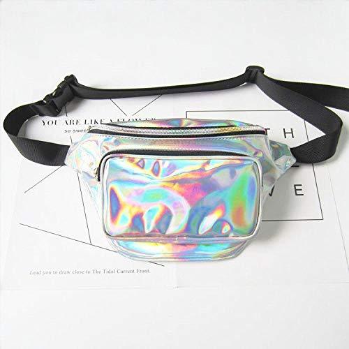 80s Retro Vintage Style Waist Bag Shiny Silver Metallic Iridescent FANNYFAM Cute Holographic Fanny Pack COROTRO SG/_B07G72RGGP/_US Unisex