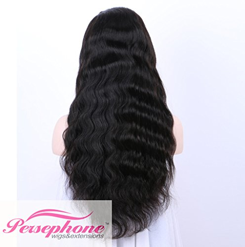 Persephone Glueless 200% Extra Heavy Density Body Wave 360 Lace Frontal Wigs Human Hair with Baby Hair Brazilian Remy Hair Lace Wig with Natural Hairline for Women Natural Color 20inches by Persephone (Image #2)