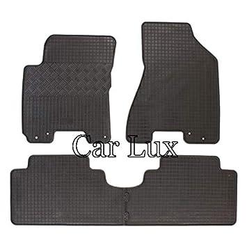 - Goma de gran calidad Antideslizante Inodora 4 uds DBS 1765890 Alfombrillas de coche de goma Alfombrillas para coche A medida contorno elevado
