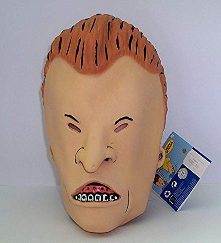 MTV Beavis and Butt-Head Adult Deluxe Overhead Latex Butt-Head Mask, Multicolored, One Size by Rubie's
