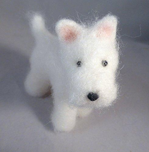 Needle Felted Dogs (Handmade Needle Felted Dog Westie)