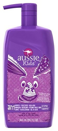 Aussie Shampoo Kids 3-N-1 Shampoo+Conditioner+BodyWash Grape 29.2 Ounce (863ml) (2 Pack)