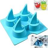Coques pour glaçons en forme d'ailerons de requin en silicone