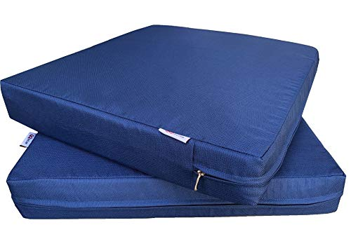 (QQbed 2 Pack Outdoor Patio Deep Seat Memory Foam (Seat and Back) Cushion Set with Waterproof Internal Cover - Size 20