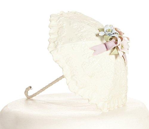 Pastel Flower Parasol Umbrella Bridal Shower Baby Shower Cake Topper