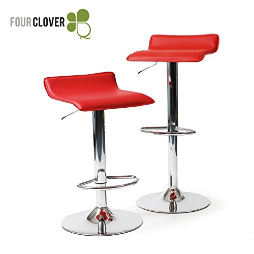 LumiSource Ale Bar Stool, Red