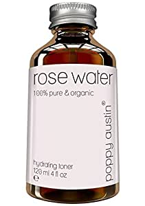Pure Rose Water Facial Toner by Poppy Austin - Vegan, Cruelty-Free, Organic, Hand Made & Responsibly Sourced Skin Toner - Finest, Triple Purified Moroccan Rosewater