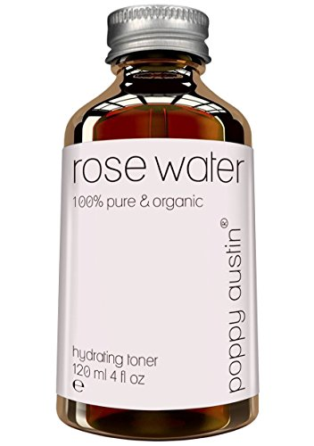 Pure Rose Water Facial Toner by Poppy Austin - Organic, Hand Made & Responsibly Sourced Skin Toner - Finest, Triple Purified Moroccan Rosewater, 4 oz (Water Floral Rose)