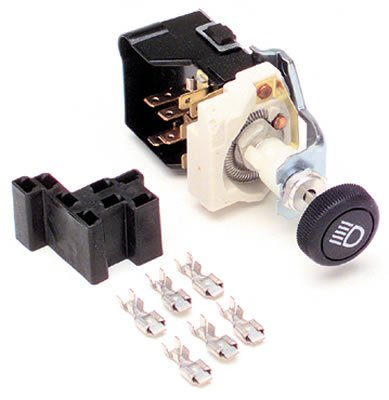 - Painless Wiring 80152 Headlight Switch/Black Knob/GM Style w/Dimmer & Dome Light