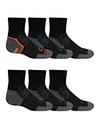 Fruit of the Loom boys Coolzone Ankle 6 Pair Socks