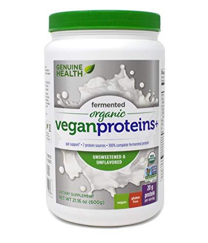 Genuine Health Fermented Organic Vegan Proteins+, 600g Unflavored