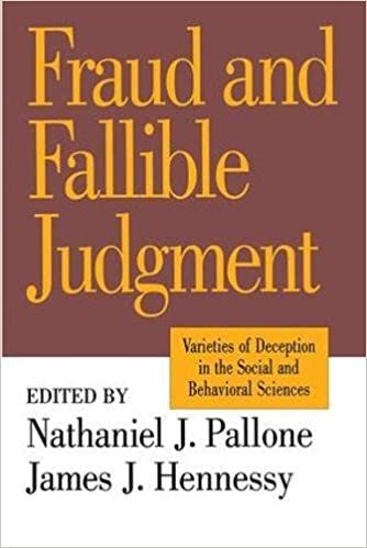 Fraud And Fallible Judgement: Deception In The Social And Behavioural  Sciences (Archaeology) 1st Edition