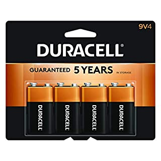 Duracell - CopperTop 9V Alkaline Batteries - long lasting, all-purpose 9 Volt battery for household and business - 4 count