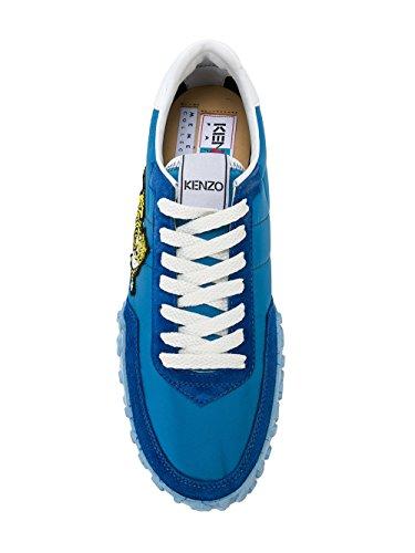 Kenzo Herren F765SN122F9274 Blau Leder Sneakers