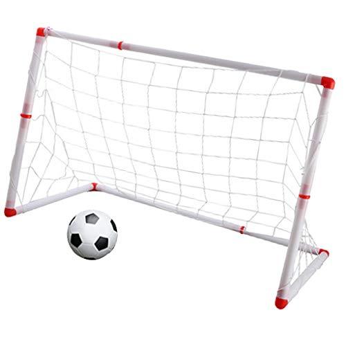 B Baosity 3サイズ ミニ ポータブル サッカー サッカーゴールセット キッズ アウトドア ボールゲームおもちゃ  - 126CM